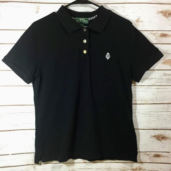 5b19a3cbb82c1c Ralph Lauren Active Womens Polo Shirt Black Size L.  M 5baf9997a5d7c6119e4c5011